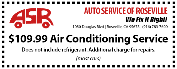 Automotive Service of Roseville Specials - Air Conditioning Service