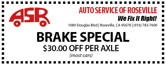 Automotive Service of Roseville Specials - Brakes