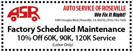 Automotive Service of Roseville Specials - Factory Maintenance
