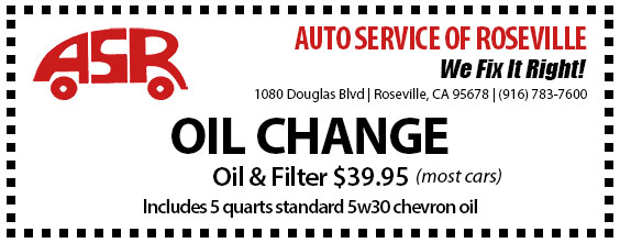 Automotive Service of Roseville Specials - Oil Change