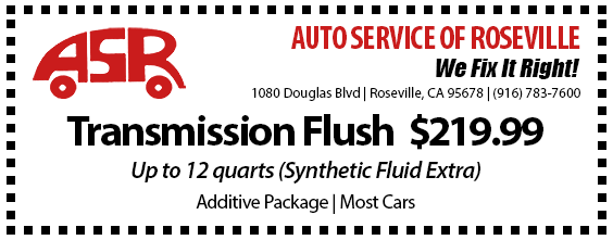 Automotive Service of Roseville Specials - Transmission Flush
